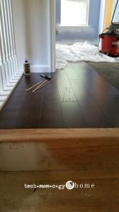 DIY Carpet to Wood Stairs_top step