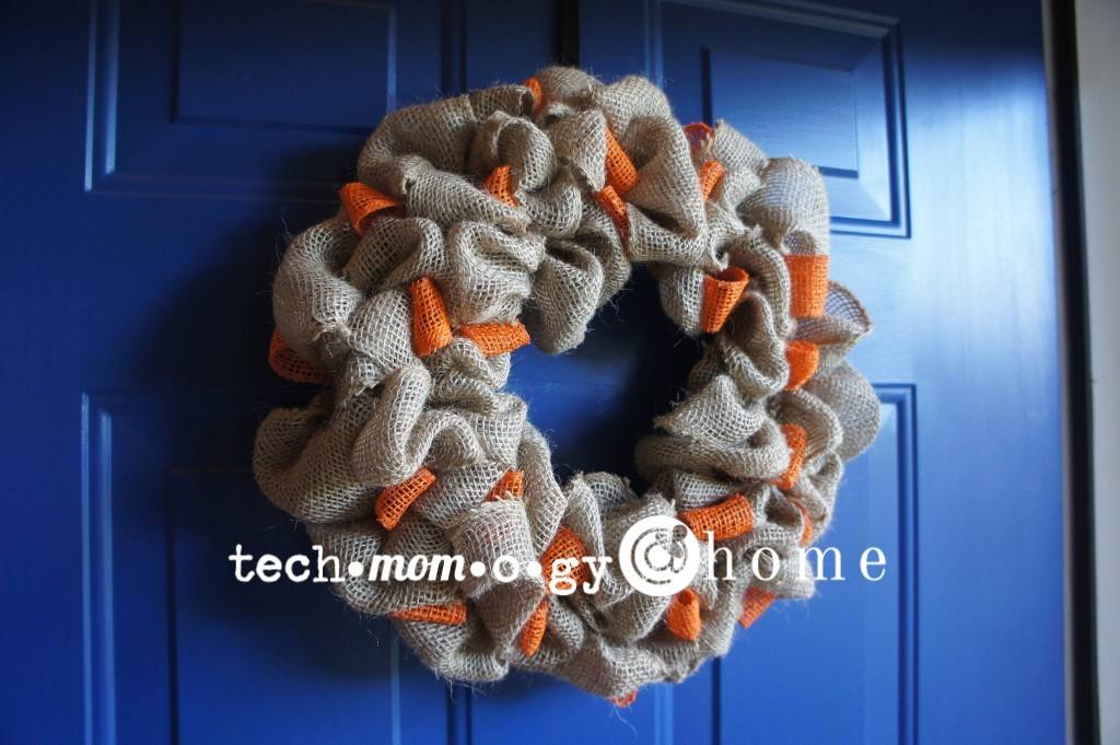 Fall Burlap Wreath DIY